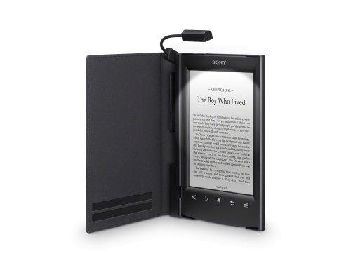 Sony PRSA-CL22 Leder Schutzhülle für E-Book PR-TS2 Reader hell-schwarz