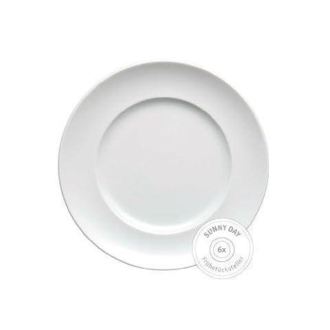 Thomas 10850-800001-28251 Set 6 Frühstücksteller Sunny Day Weiss