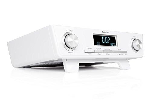 AudioAffairs Küchenradio UKW FM Unterbau-Radio Küchenunterbauradio mit LED Licht, Unterschrank-Küchenradio und Back-Timer, weiß - Nur erhältlich auf Amazon.de (Küche Radio)