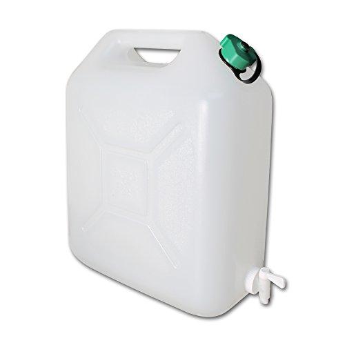Wasserkanister mit Wasserhahn - Wasserkanister Camping - faltbarer Wasserkanister - Wasserbehälter faltbar - Wasserbehälter mit Modellauswahl (Wasserkanister 20L)
