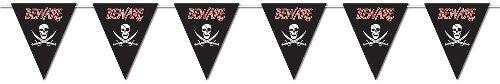 Beistle 57679BEWARE OF PIRATES GIANT Pennant Banner, 23von 12-feet