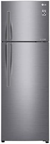LG 335 Liters Top Mount Refrigerator with Inverter Linear compressor, Shiny Steel - GR-C402RLCN