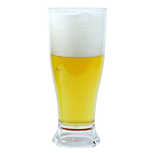 Viva Haushaltswaren – 2 x bruchfestes Bierglas ca. 350 ml, Longdrinkglas, Cocktailglas, Gläser Set aus hochwertigem Kunststoff (Polycarbonat), edle Gläser für Camping, Partys (wie echtes Glas) - 4