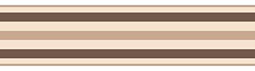 BHF Fdb50023à rayures de cuisine et de salle de bain Frise autocollante-Chocolat/naturel
