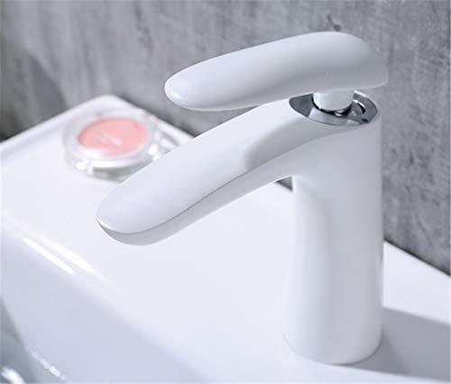 Wasserhahn Luxusverc Hromt Neues Messing, Weißes Badezimmerbecken, Hahn, Wanne, Wasserfallhahn, Kalter Und Heißer Hahn. -