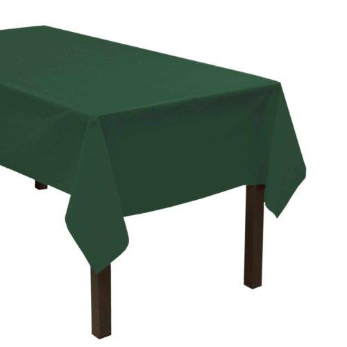Party Essentials Robuste Kunststoff-Tischdecke, 137 x 274 cm, Schwarz hunter green - Hunter Green-zubehör