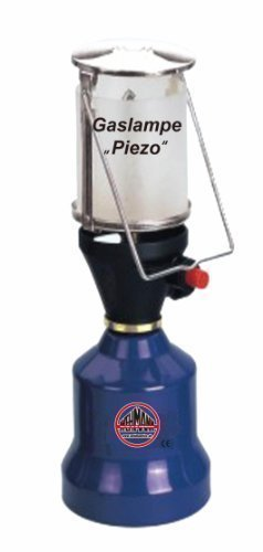 Campinglampe Gaslampe Campinglaterne mit Piezozündung + 1 Gaskartusche