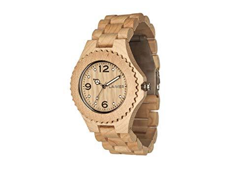 LAiMER orologio da polso in legno CONNIE | legno acero | 100% prodotto naturale | Alto Adige | leggero come una piuma, ipoallergenico ed ecosostenibile
