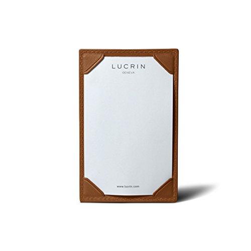Lucrin - Ecritoire - cuir de vachette lisse - Naturel Cognac