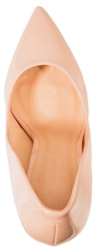 Elara Spitze Damen Pumps | Bequeme Lack Stilettos | Elegante High Heels Pink Pearl