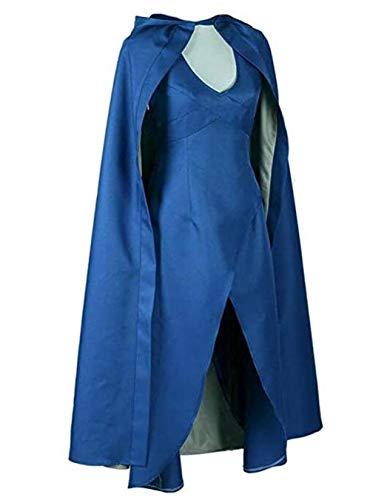 LDamcom Halloween-Kostüm für Damen - Blau - (Game Of Thrones Weibliche Kostüm)