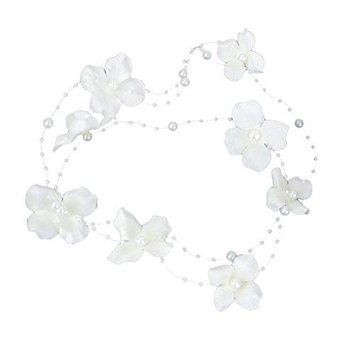 ULTNICE Stirnband mit Blumen Braut Haar Accessoires Perle Stoff Blume Haarspange (Jeweled Haarspangen)