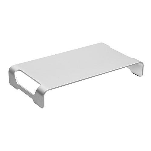 SONGMICS Monitorständer aus Aluminium, ergonomischer, multifunktionaler Bildschirmständer, für Monitor, Laptop, Drucker, bis 20 kg belastbar OMS04SV