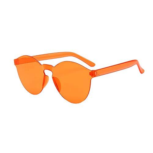 WooCo Schlussverkauf! Randlose Retro Sonnenbrille für Damen und Herren, Brillen Brillen Brillen Klarglas Candy Farbe Brille (J,One size)