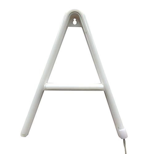 LEDMOMO Lámpara de neón Letras Forma LED luz de la Noche para cumpleaños Fiesta de Bodas Dormitorio decoración de Pared sin baterías - luz Blanca cálida (Alfabeto A)