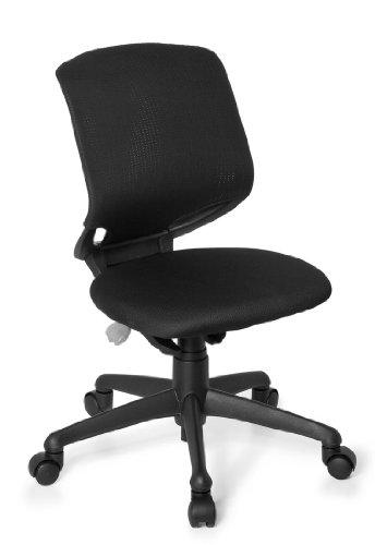 hjh OFFICE Kinderschreibtischstuhl / Kinderstuhl KID MOVE BLACK schwarz/schwarz