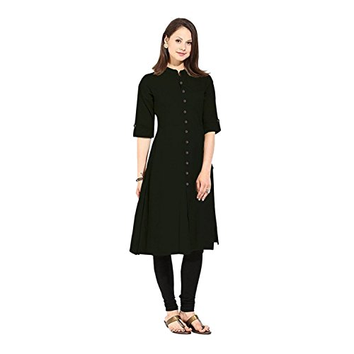 Muta Fashions Black Kurti For Traditional Women Kurtas for Girls Fabric (Black)  available at amazon for Rs.220