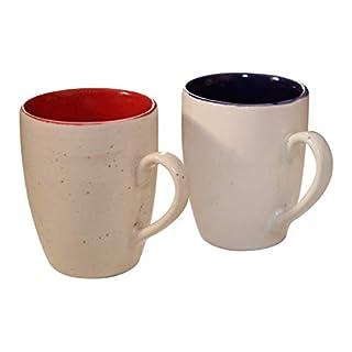 Best Deals - AB Handicrafts - Set of 2 Coffee Milk Mug Cup Ceramic Mug Tea Cup for Tea, Water, Milk and Coffee, Birthday, Anniversary Best Gift (Cups_Mug_1)