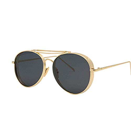 Yuany Sonnenbrille Rot Großer Rahmen Anti-UV Brille Vibration Polarisierte Sonnenbrille Augen Persönlichkeit Flut Silber Damen