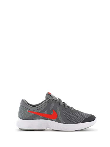 separation shoes c6299 17333 Nike Revolution 4 (GS) - Zapatillas Deportivas para Hombre, Color Gris y  Rojo