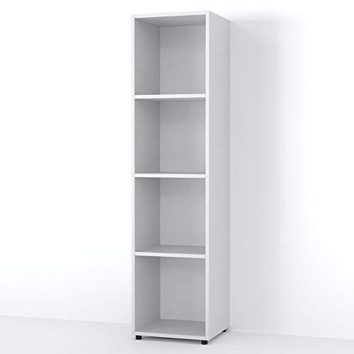 Vicco Raumteiler LUDUS 4 Fächer 142 x 36 cm - Standregal Hängeregal Regal TV Lowboard Sideboard Bücherregal (Weiß)