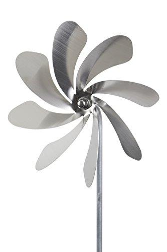 steel4you A1002 Windrad Windmühle Speedy20 aus Edelstahl (20cm Rotor-Durchmesser), kugelgelagert, Edelstahl Dekoration Garten - made in Germany