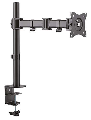 RICOO Tischhalterung für Monitor Monitorhalterung TS5711 Universal Monitorständer Schwenkbar Neigbar Höhenverstellbar Schreibtisch Bildschirmständer Monitorhalterungen VESA 75x75 100x100 / Schwarz (60 Tv Led 3d Sony)