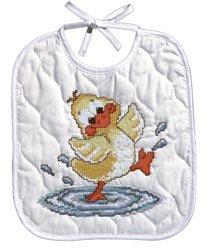 Bulk Buy: Janlynn Just Ducky Bib Stamped Cross Stitch Kit 9 1/2