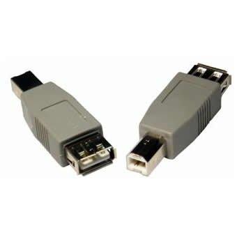 Buchse/b-stecker-adapter (Adapter USB-Buchse Typ A (weiblich) auf USB-Stecker Typ B (männlich))