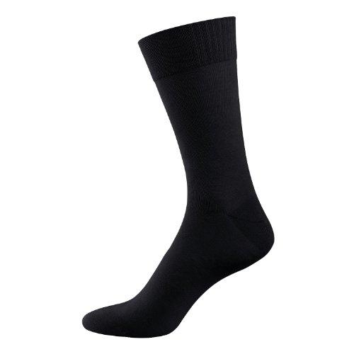 Nur Der Herren Socken Bambus, Gr. 43/46, Schwarz (schwarz 940) (Herren-socken Bambus)