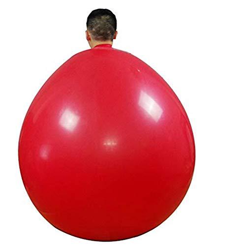 Queta - Globo de látex Gigante (72 Pulgadas, para Fiestas), Color Rojo