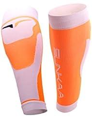 sunkaa Hombre Medias Calf Sleeve Compression Wade Calcetines, todo el año, hombre, color Naranja - naranja, tamaño M/L
