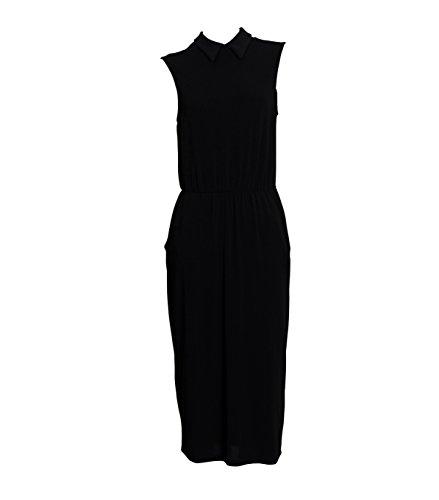 LA FEE MARABOUTEE Damen schwarzes Kleid mit Kragen 700 Noir T2 700 Etui