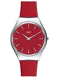 Swatch Reloj Analógico para Unisex Adultos de Cuarzo con Correa en Cuero SYXS119