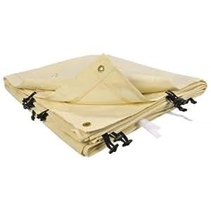 Toile de rechange beige pour auvent ou tonnelle adossée 3 x 4m