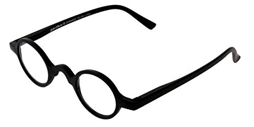 STRIKE Eyewear Lesebrille Lesehilfe kleine runde Gläser matt schwarz (+2,5)