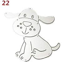 KHWHJY Lucky Puppy Pattern DIY Stanzstempel Prägeschablone