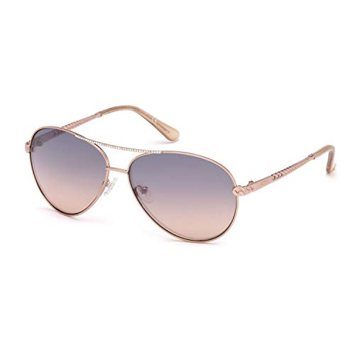 Guess Unisex-Erwachsene GU7470 28T 60 Sonnenbrille, Gold (Oro Rosa Lucido/Bordeaux Grad),