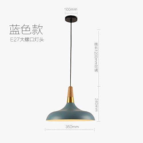 self-my éclairage de plafond de la personnalité créative de bois nordique Restaurant Bar de Style japonais minimaliste chambre étude chambre Bleu Lumière blanche lampes de lustre