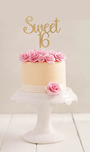 (Sweet 16Birthday Cake Topper 16. BIRTHDAY CAKE TOPPER 16. BIRTHDAY CAKE TOPPER Tortenaufsatz, für junge Mädchen Party Geburtstag Geschenk für Damen Herren Geburtstag Party Dekorationen Gastgeschenken Topper)
