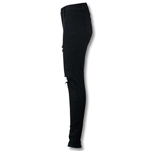 jaminy 2017 Neue sexy Frauen kühlen zerrissenen Knie schneiden dünne lange Jeans Hosen dünne Bleistift Hose (L) (Dünne Hoch Knie)