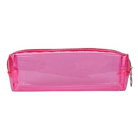 Beauté Top BoîTe à Crayons Couleur Candy Ecole Transparente Etui