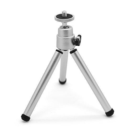 """Shoot® 3D-Mini cavalletto treppiede con testa a sfera per fotocamere compatte 10,16 cm (4"""") fotocamera digitale, colore: argento"""