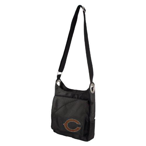 littlearth-nfl-chicago-bears-sport-noir-sheen-cross-body-purse-black