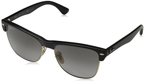 Rayban Herren Sonnenbrille 4175 Demi Gloss Black/Greygradientdarkgrey-Pola, 57