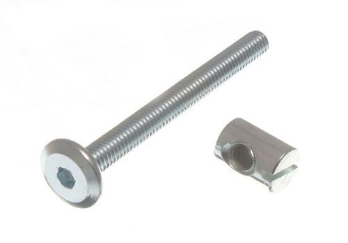 Möbel Gitterbett Bolt Allen Kopf Mit Barrel Nut 6Mm M6 x 60mm Zp ( 4er Pack )