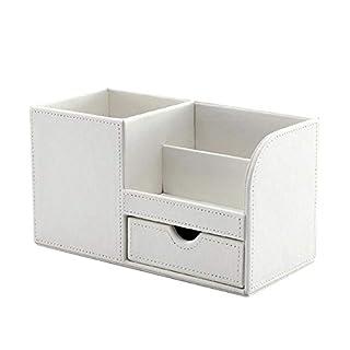 Kreative Mode Büromaterial mit Schublade Aufbewahrungsbox PU Leder Lagerung Stifthalter Fernbedienung Aufbewahrungsbox für Beauty-Produkte