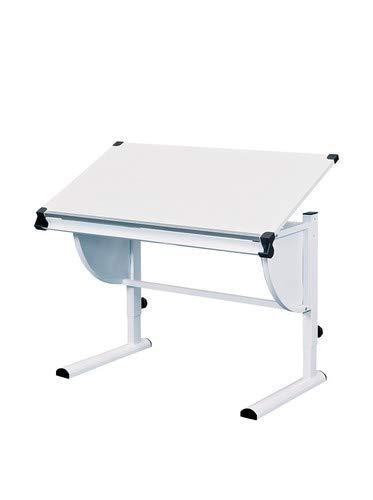 Erwachsene Laptop-schreibtisch (Inter Link Schülerschreibtisch Kinderschreibtisch Arbeitstisch Schreibtisch MDF Weiss BxHxT: 110 x 63-93 x 60 cm)
