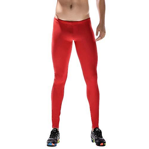 ITISME Herren Männer Leggings lang Unterhose Unterwäsche Strumpfhose Herrenleggings Hose Trainingshose Base Tights Base Layer