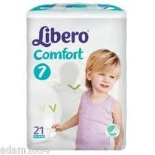 pannolini Libero 7 Comfort Xlarge Nappies 15-30kg pack of 21